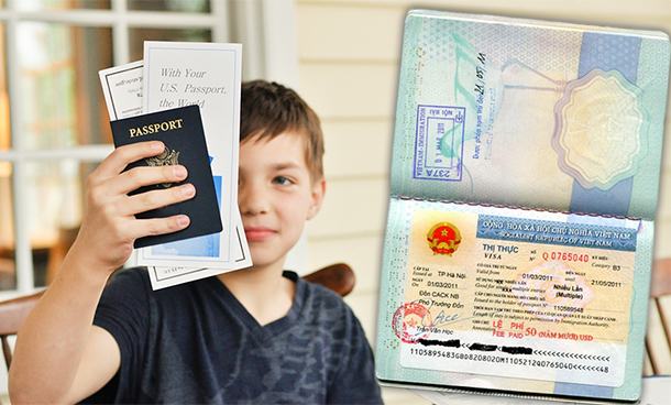 Regulation of providing Vietnam visa for foreign children